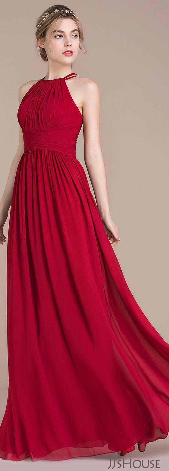modelos vestidos dama vermelho