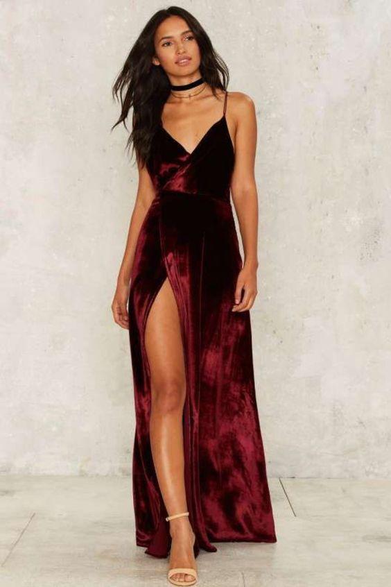 modelos vestidos fenda festa