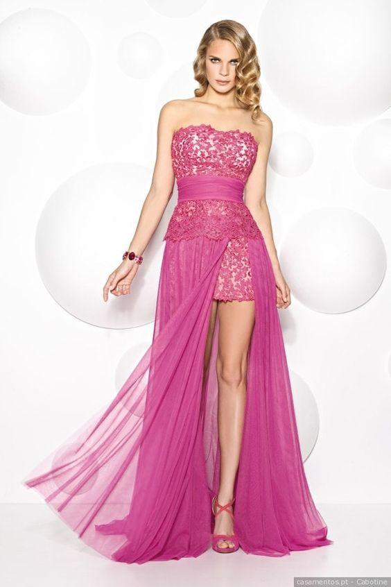 modelos vestidos fenda tule