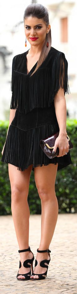 modelos vestidos franjas 3