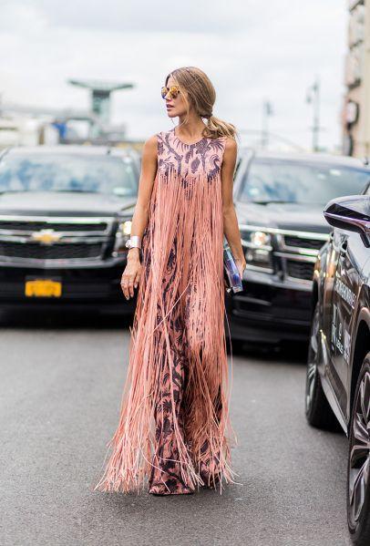 modelos vestidos franjas