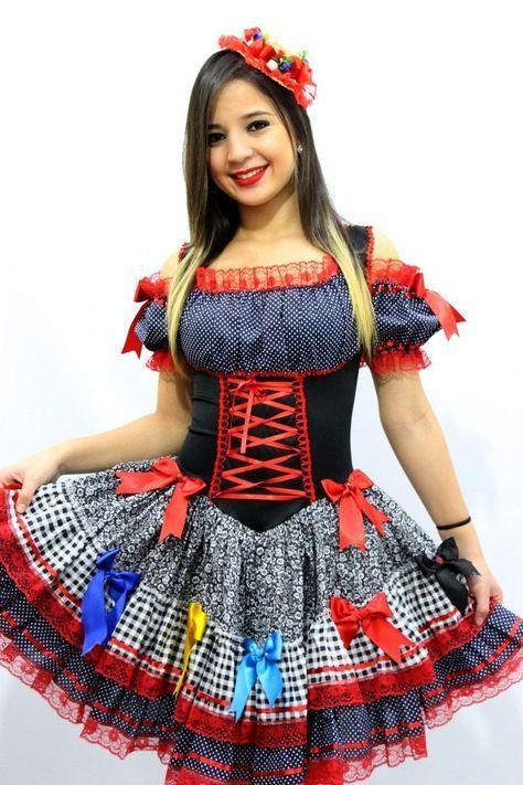 modelos vestidos quadrilha junina 1