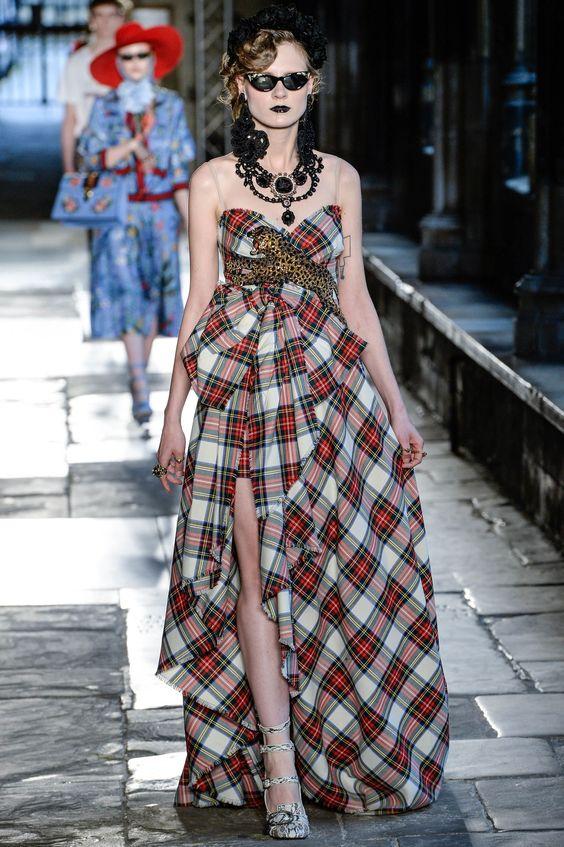 modelos vestidos xadrez 1