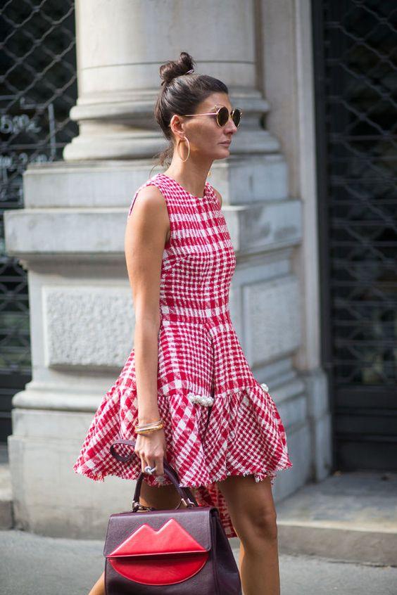 modelos vestidos xadrez