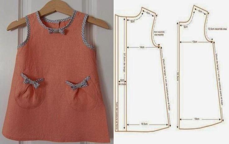 moldes vestido infantil simples 1