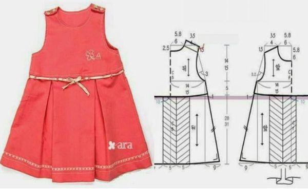 moldes vestido infantil simples verao