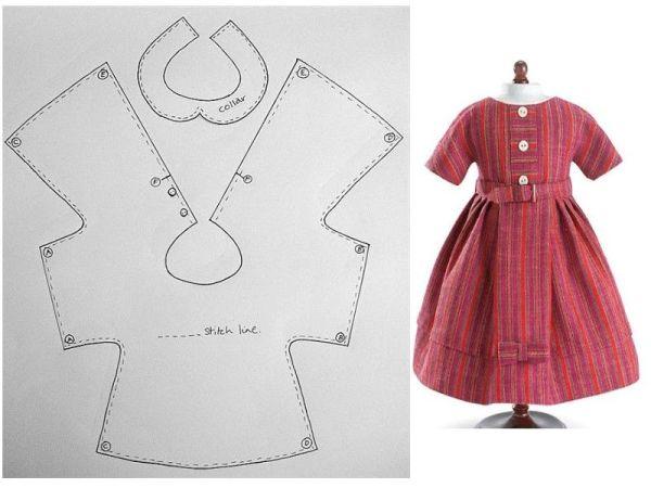 moldes vestido infantil simples