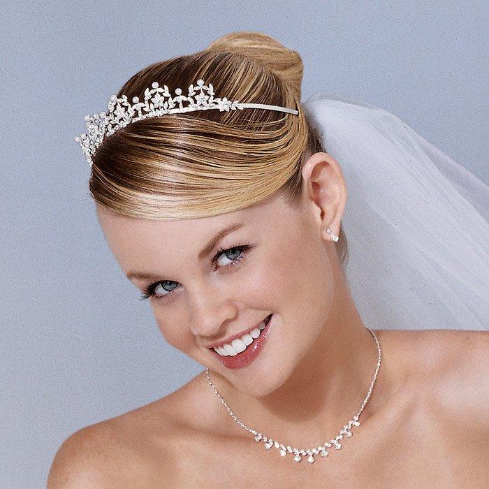 noiva linda com tiara