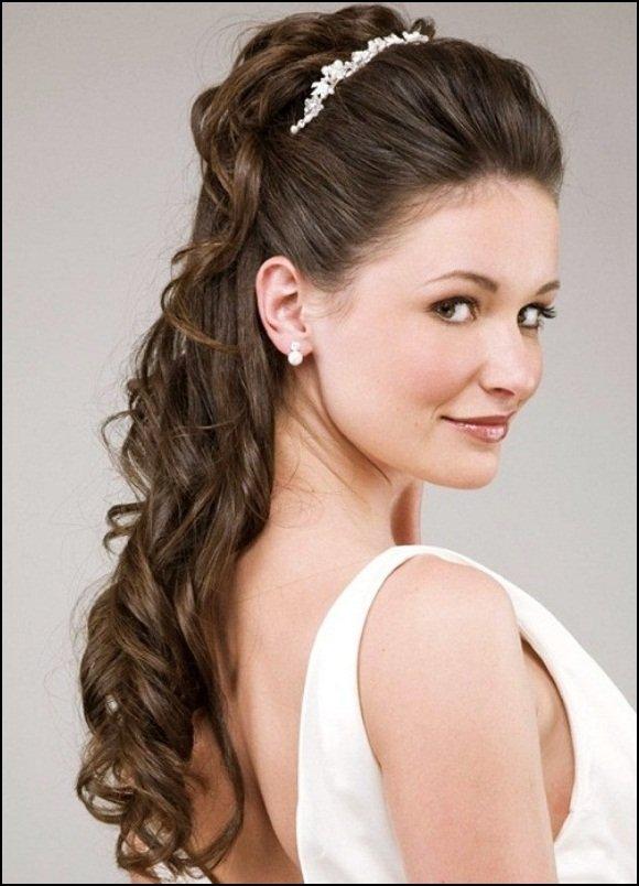 penteado com tiara