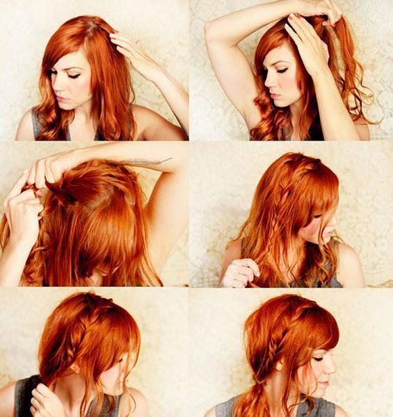 penteado simples e moderno