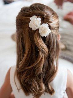 penteados daminhas honra flores