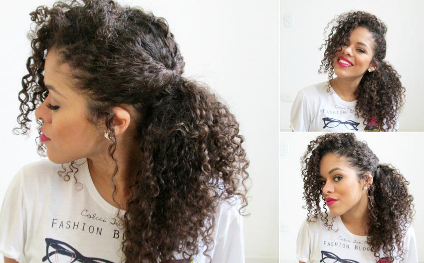 penteados faceis para cabelos cacheados