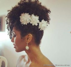 penteados noiva afro