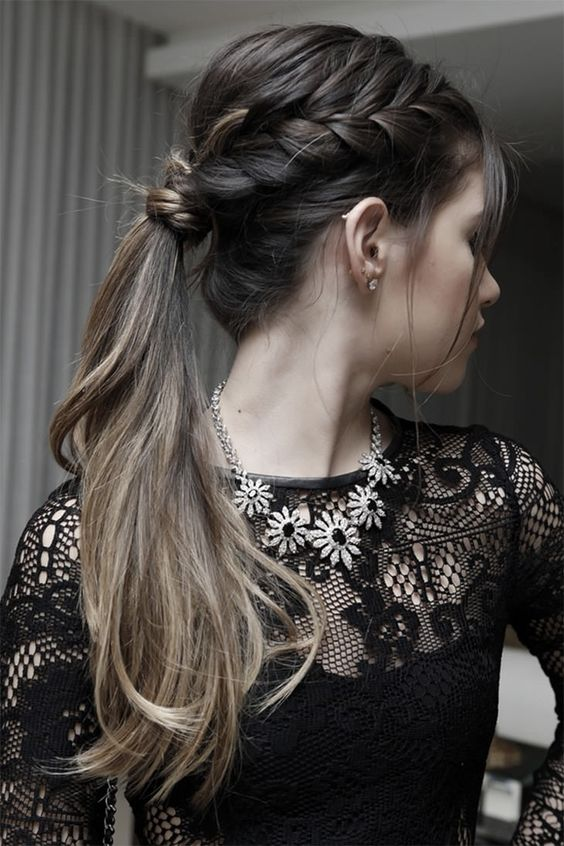 penteados reveillon tranca