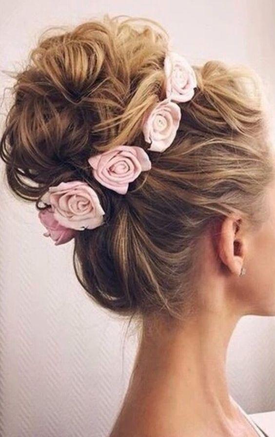 peteados noiva flores 3
