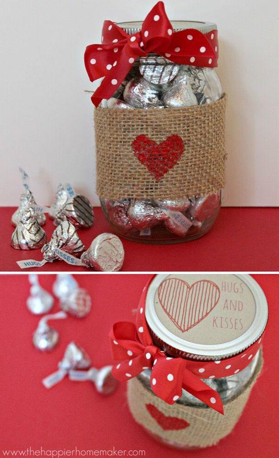 potes decorados dia namorados bombons