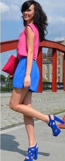 sandalia colorida