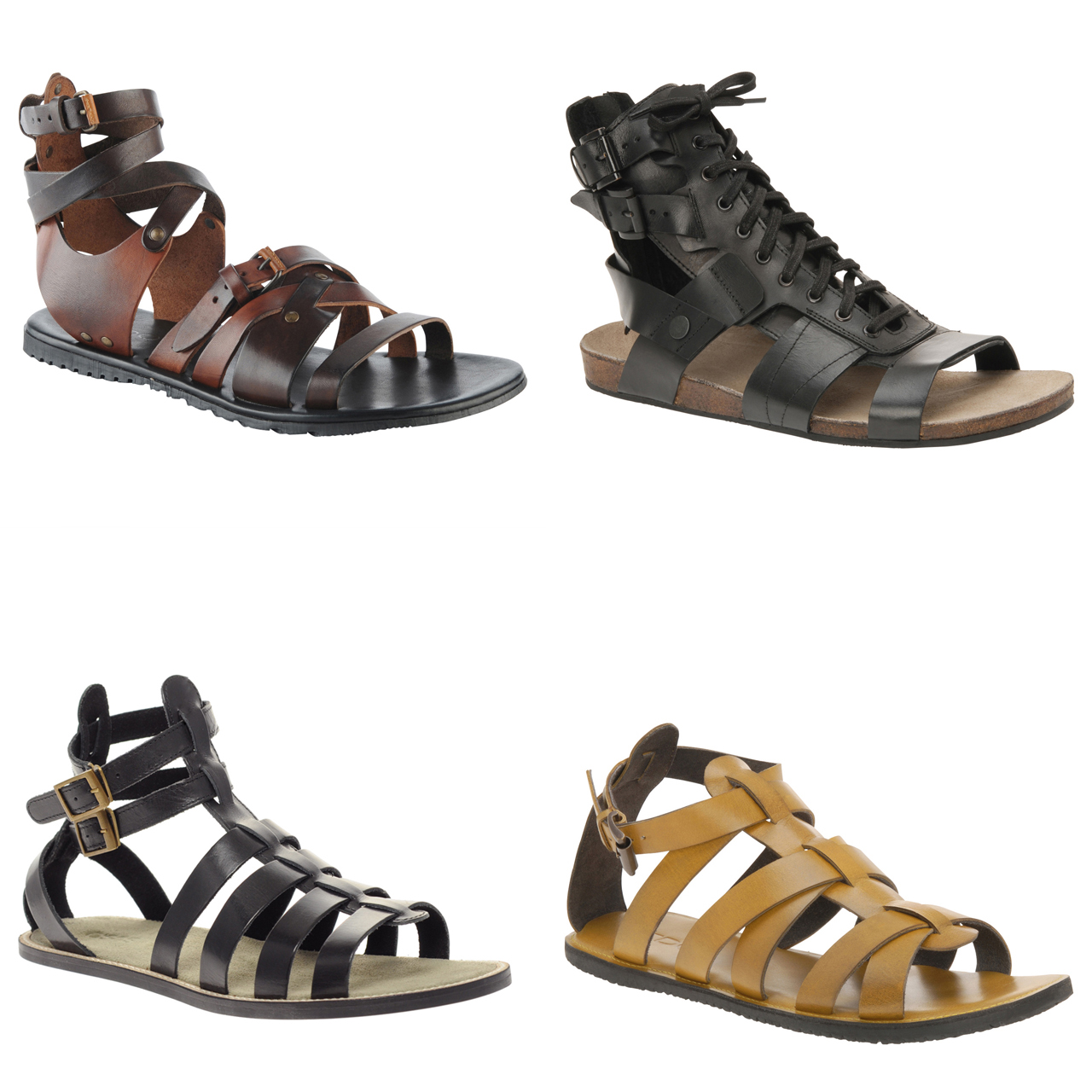 sandalia gladiadora moderna