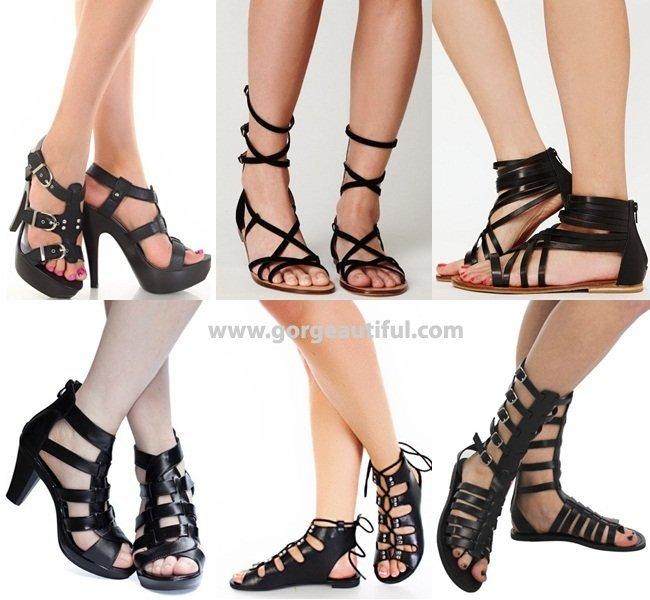sandalias gladiadoras tendencias