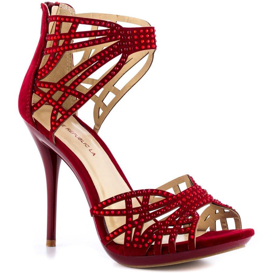 sapato vermelho gladiadora