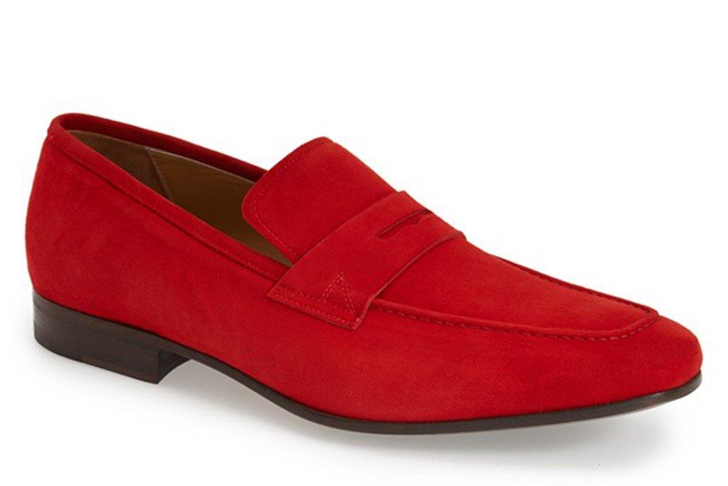 sapato vermelho raso
