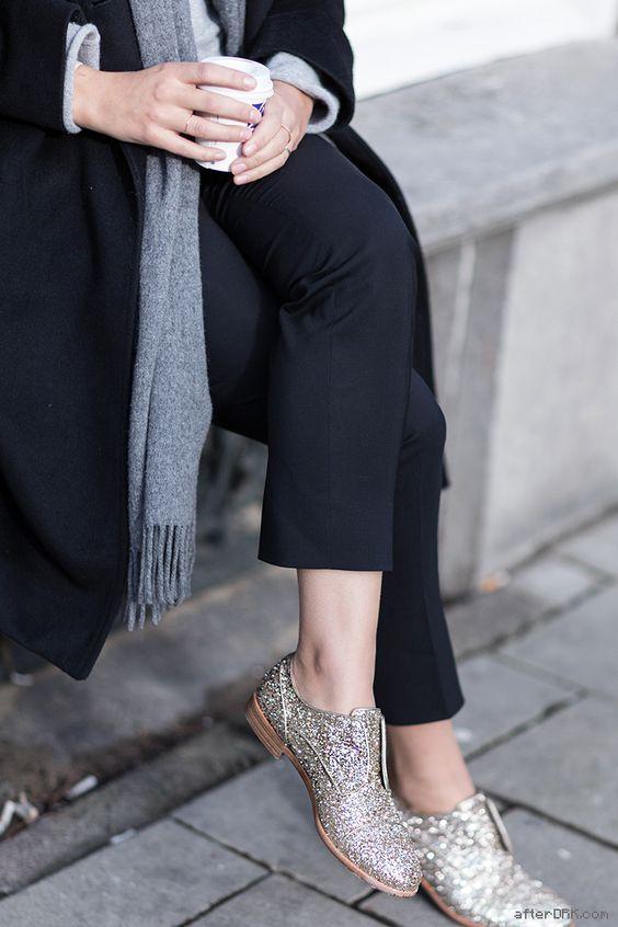 sapatos brilho oxford