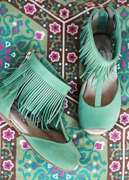 sapatos menina verde