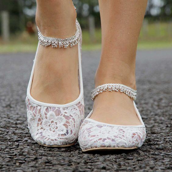 sapatos noiva baixos renda