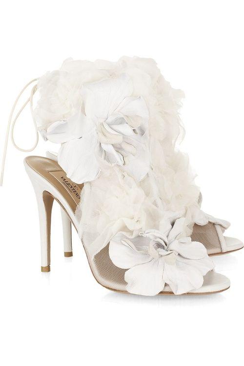 sapatos noiva flores