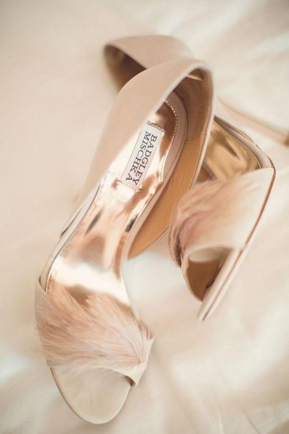 sapatos noiva penas