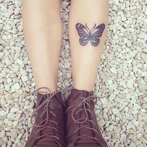 tatuagem canela feminina frente