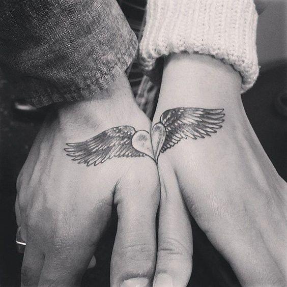 tatuagem coracao asas