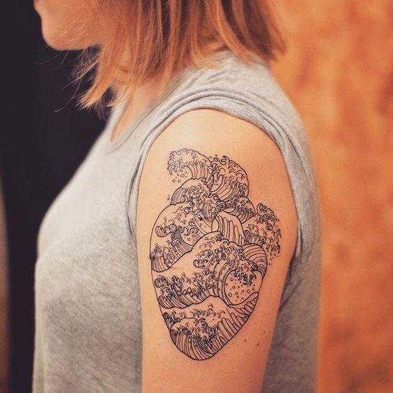 tatuagem coracao braco grande