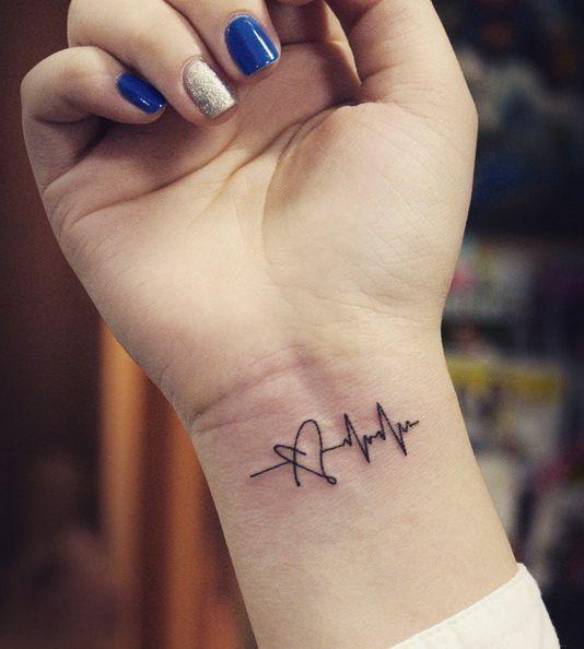 tatuagem feminina delicada pulso