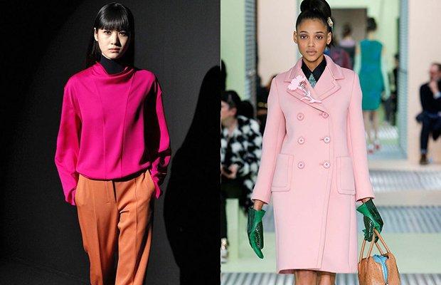 tendencia cores outono inverno pink