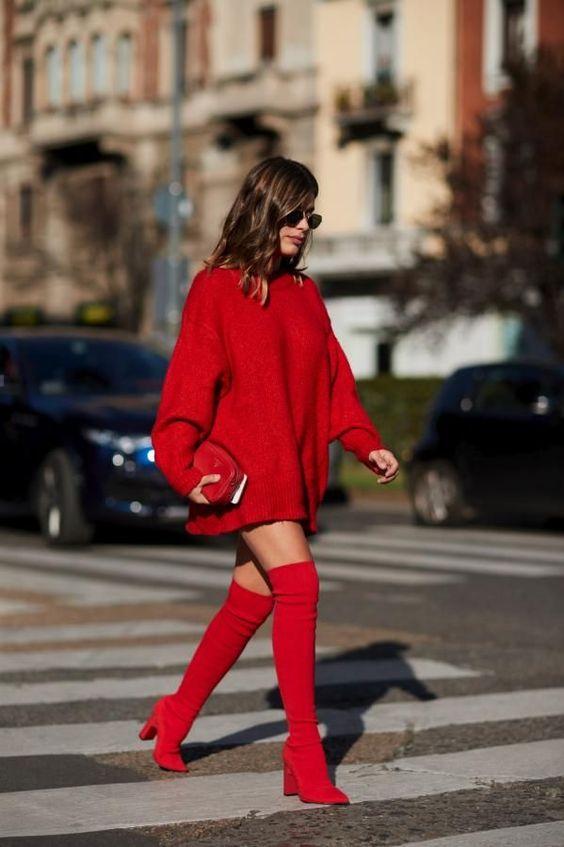 tendencia cores outono inverno vermelho 1