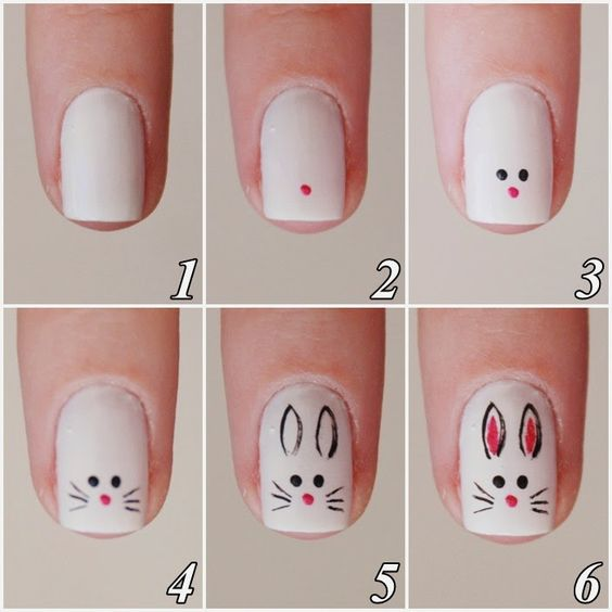 tutorial unhas decoradas pascoa