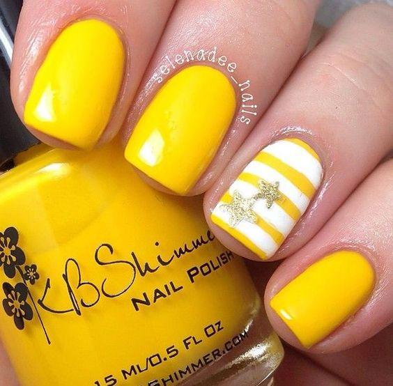 unhas amarelas listras