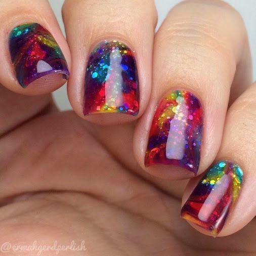 unhas coloridas decoradas