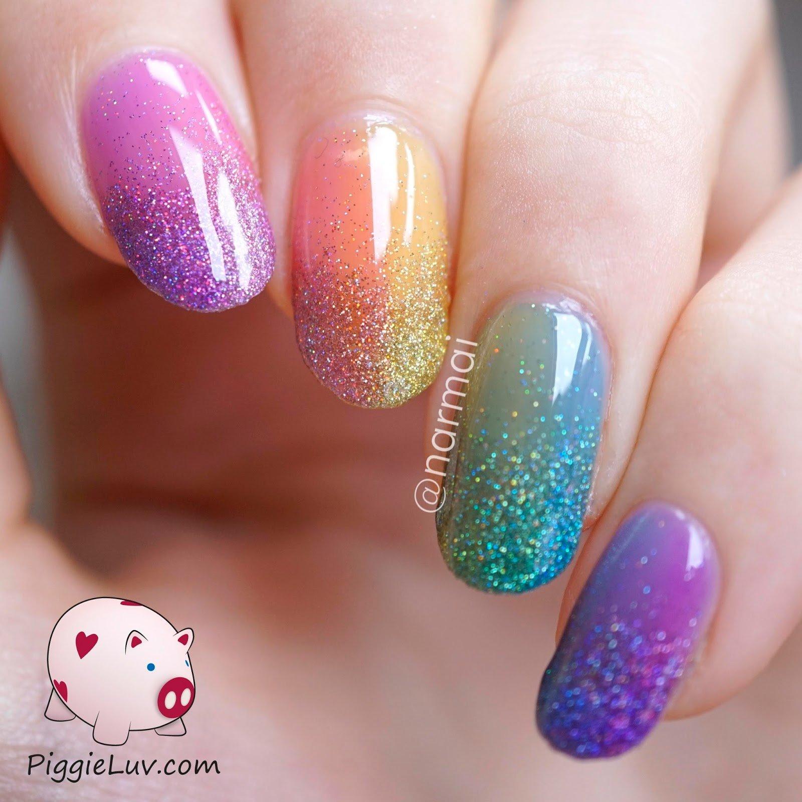 unhas-com-glitter