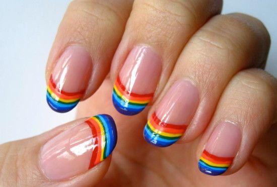 unhas decoradas arco iris 3