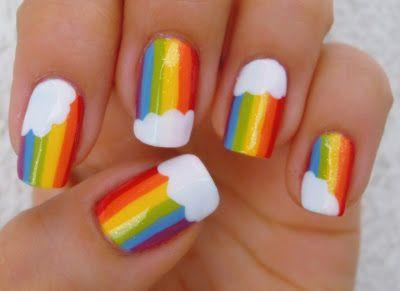 unhas decoradas arco iris 5