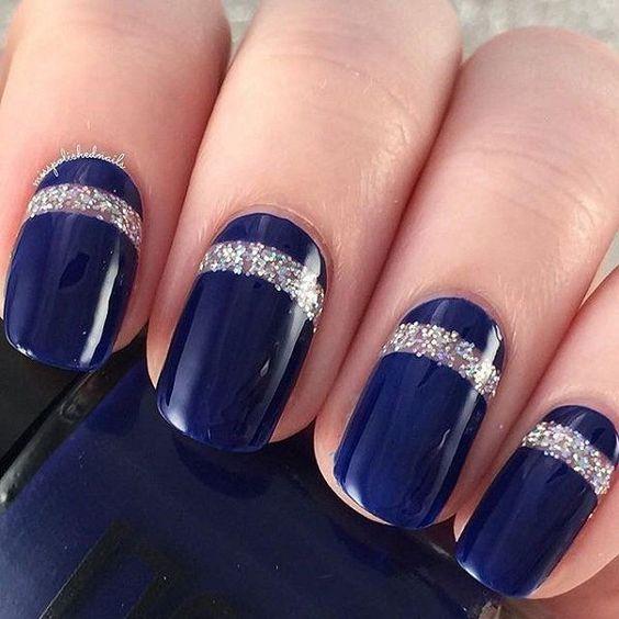 unhas decoradas azul 2