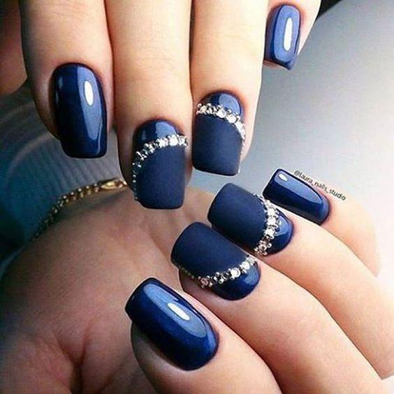 unhas decoradas azul 3