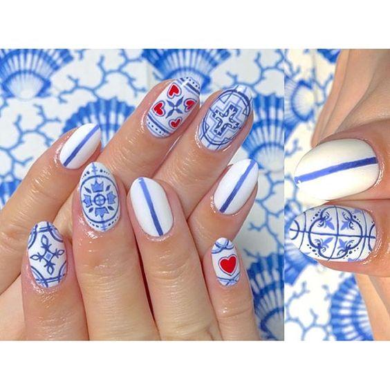 unhas decoradas azulejo portugues 1