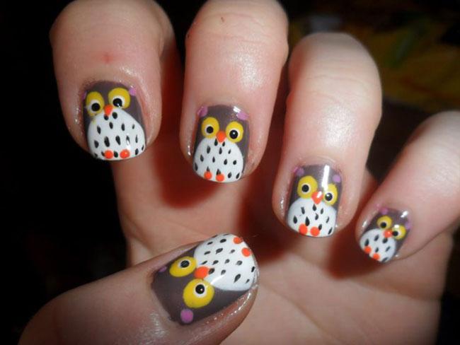 unhas-decoradas-coruja