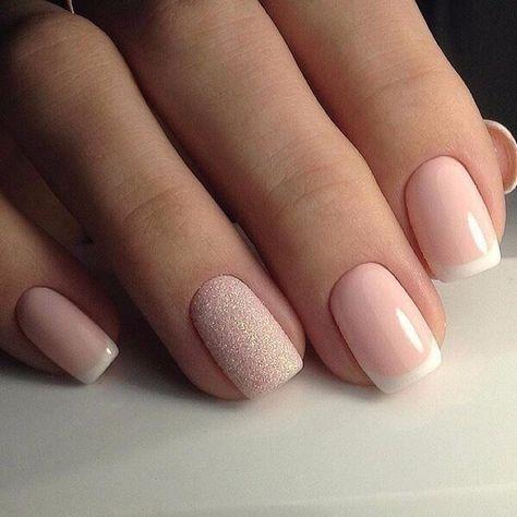 unhas decoradas formatura rosa glitter