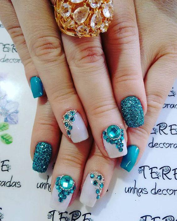 unhas decoradas glitter