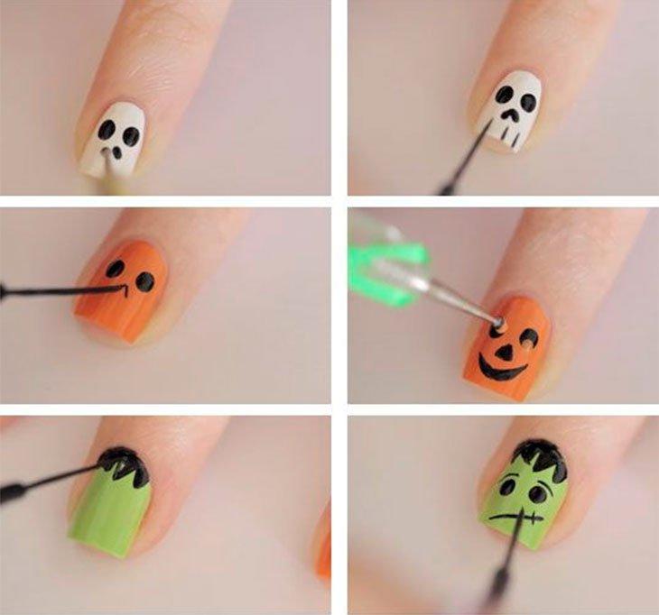 unhas decoradas halloween 4
