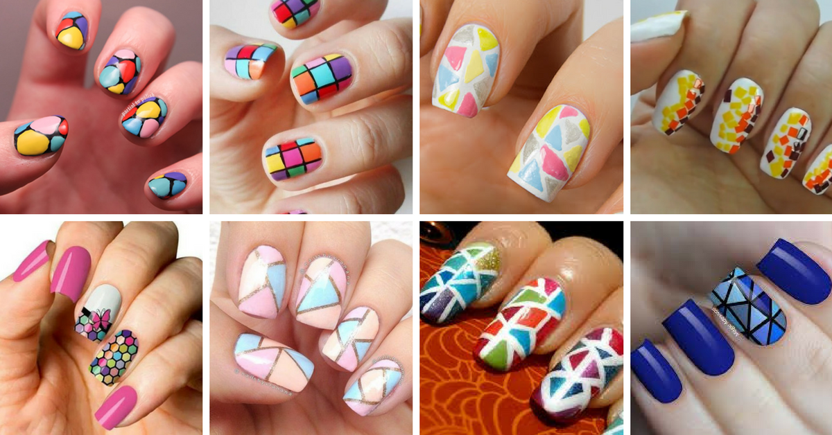 15+ Unhas Decoradas Mosaico